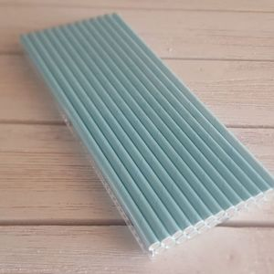 Paper Straws Teal Blue Tiffany Party Supplies